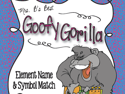 Goofy Gorilla Card Game: Element and Symbol Match