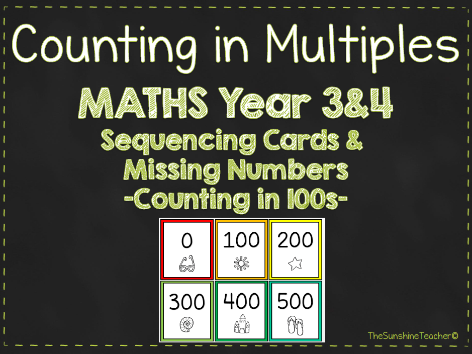 Multiples - Counting in 100s - Year 3&4 - Maths - Place Value