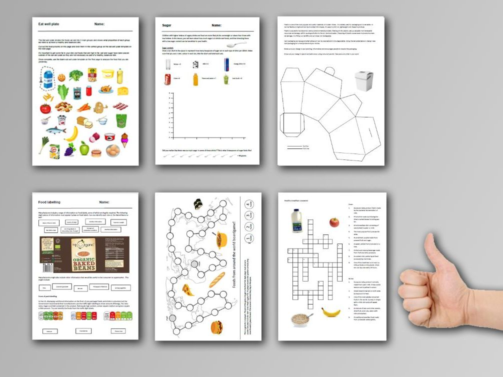 9 Food cover work / cover lessons - Tried and tested worksheets