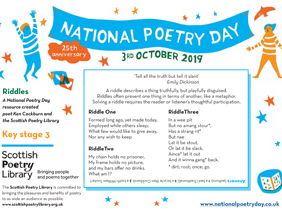 National Poetry Day 2019 Resource from the Scottish Poetry Library