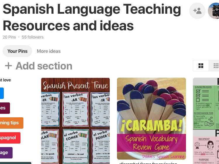 Spanish Language Teaching Resources and Ideas - Pinterest Board