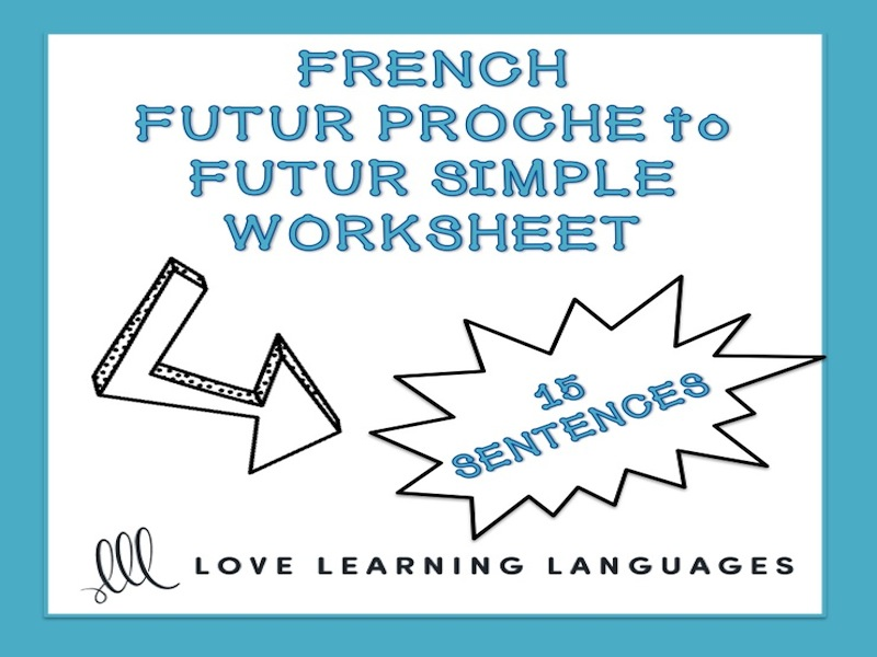 GCSE FRENCH: Futur proche to futur simple worksheet - French future tense
