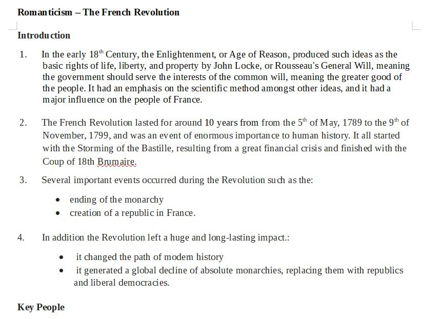 Romanticism: The French Revolution: Context