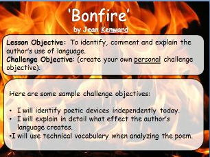 A Differentiated Poetry Lesson: Analysing 'Bonfire' by Jean Kenward