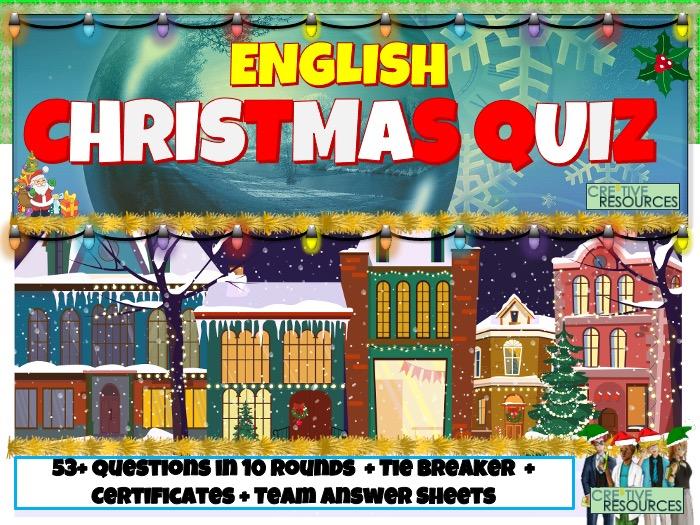 Christmas English Quiz 2020