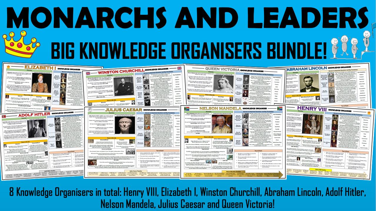 Monarchs and Leaders - History Knowledge Organisers Big Bundle!
