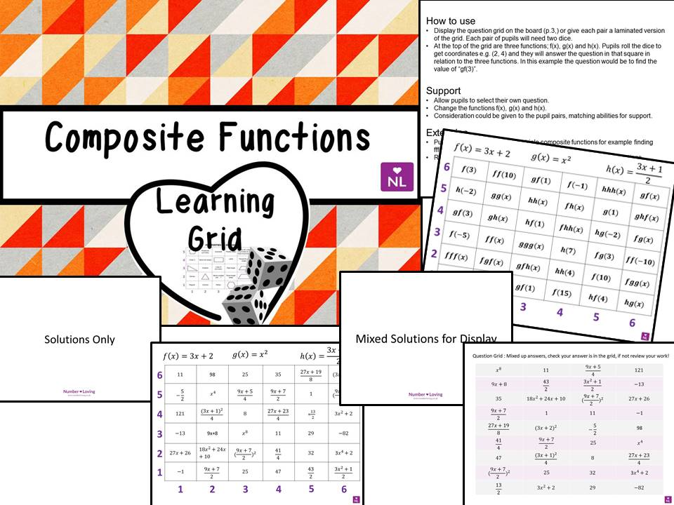 Composite Functions GCSE 9-1 Learning Grid