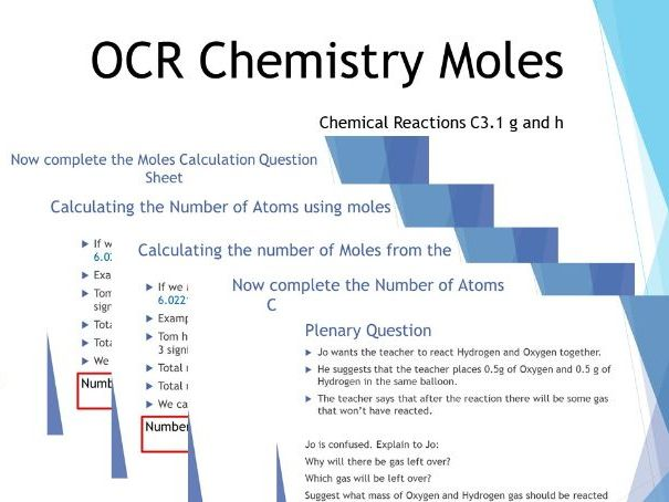 Simple Mole Calculations