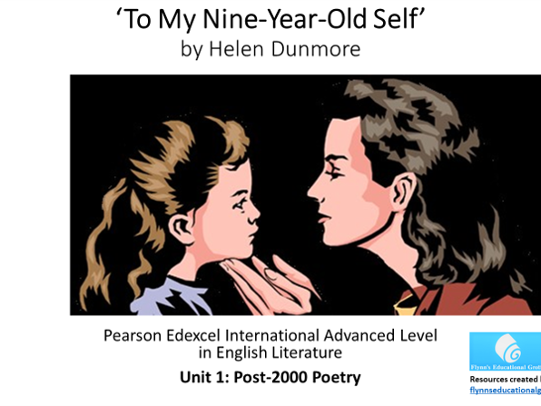 A Level Poetry: 'To My Nine-Year-Old Self' by Helen Dunmore