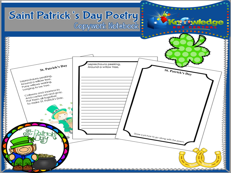 Saint Patrick's Day Poetry Copywork