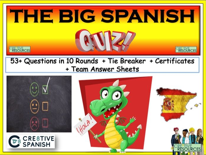 Spanish End of Year Quiz