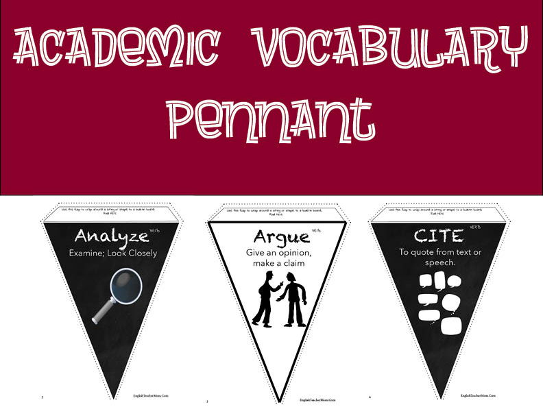 Academic Vocabulary Pennant