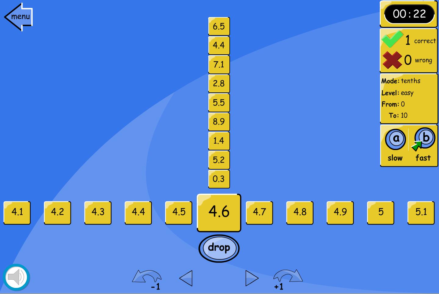 Number Line Drop: Tenths - Interactive Activity - KS2 Number