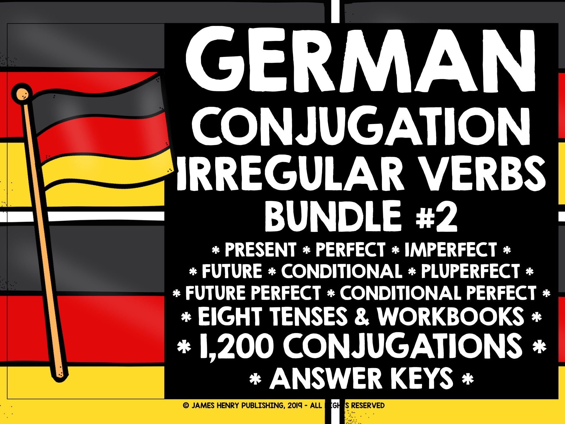 GERMAN IRREGULAR VERBS CONJUGATION BUNDLE #2