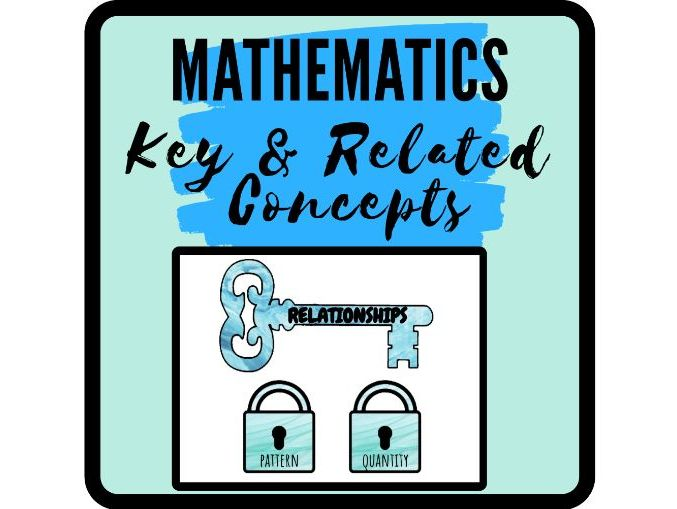 MYP Mathematics Key and Related Concepts
