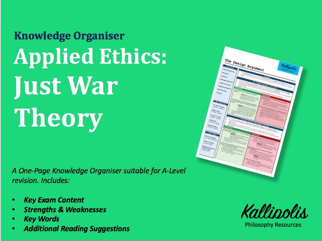 War & Peace -Just War Theory - Knowledge Organiser