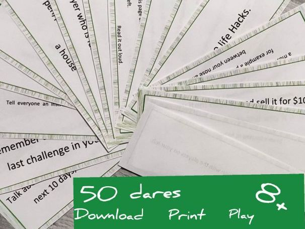 GAME! 50 DARES! IN THE CLASS DURING THE ANY LESSON/PARTY/FAMILY EVENT