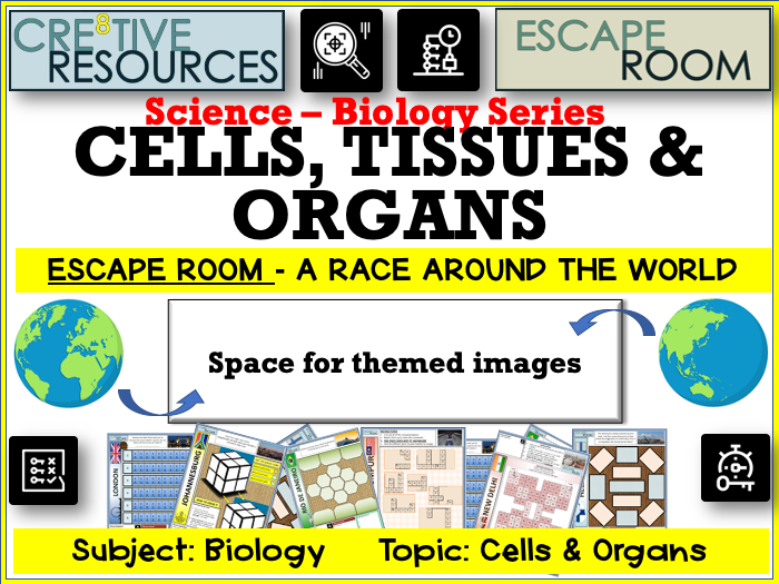 Cells Tissues Organs - Science Escape Room