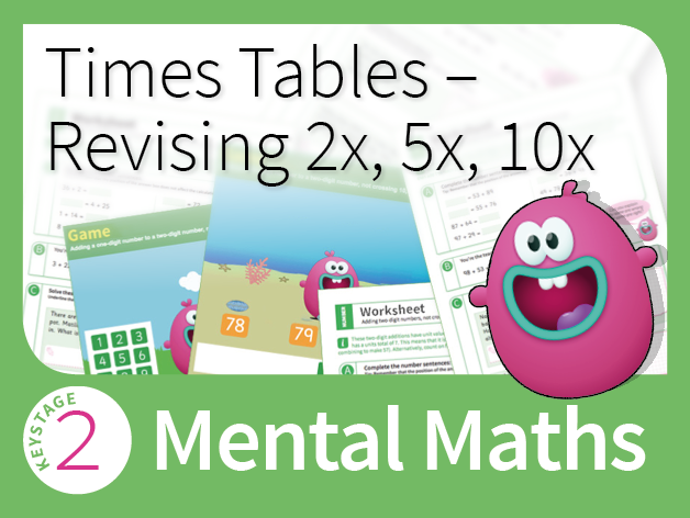 Times Table Mastery - Revising the 2, 5 and 10 times table