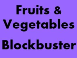 Fruits and Vegetables Blockbuster game for Smartboard