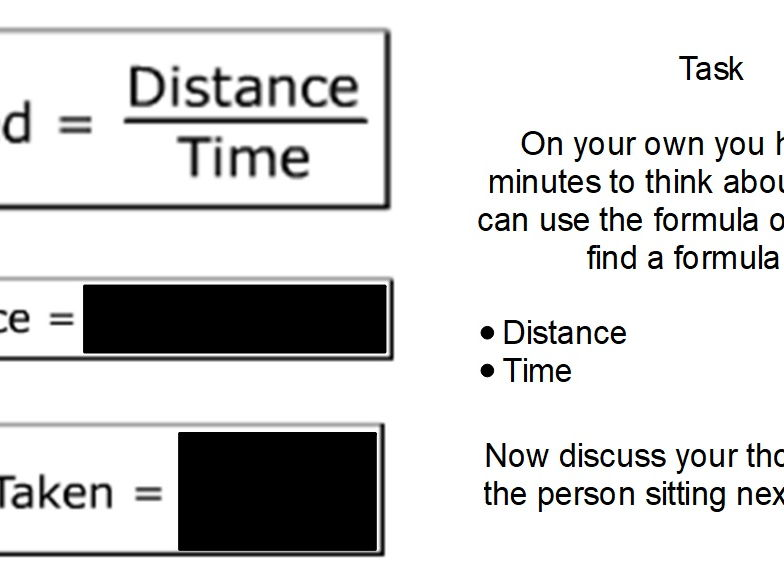 Distance-Speed-Time  lesson