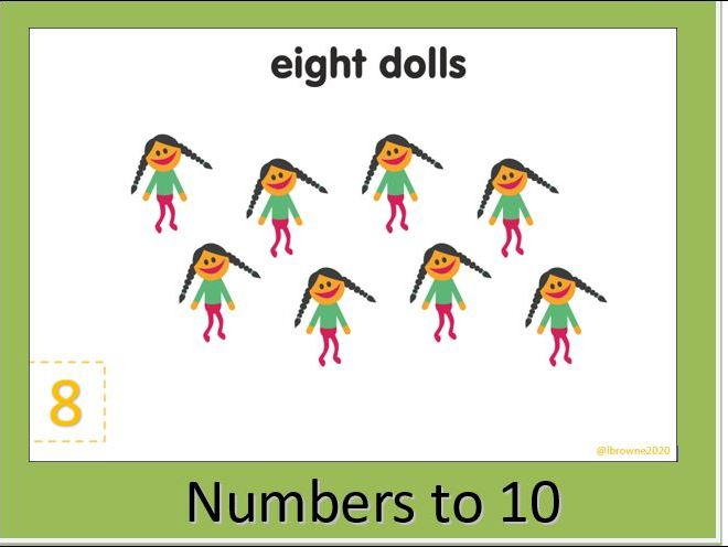 Toys Numbers to 10 Slide Show