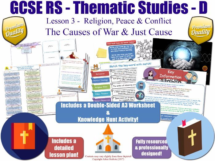 The Causes of War [GCSE RS - Religion, Peace & Conflict - L3/10] Theme D