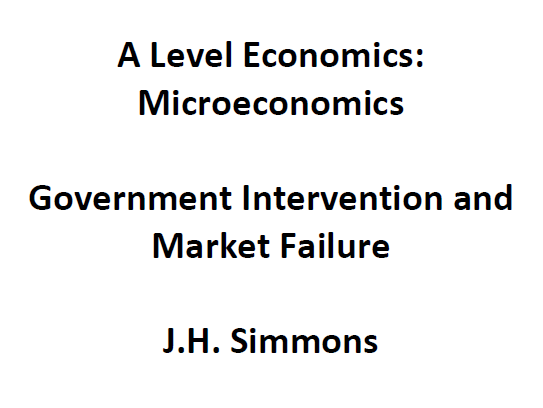 Microeconomics: Government Intervention and Market Failure