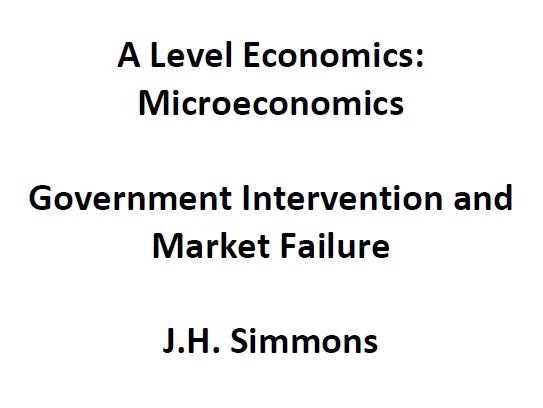 Microeconomics: Government Intervention and Market Failure