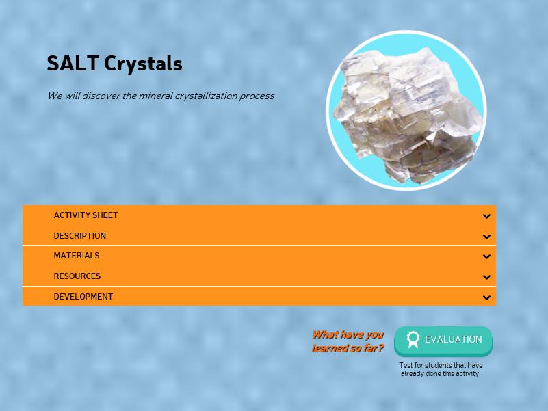 Make salt crystals (activity)
