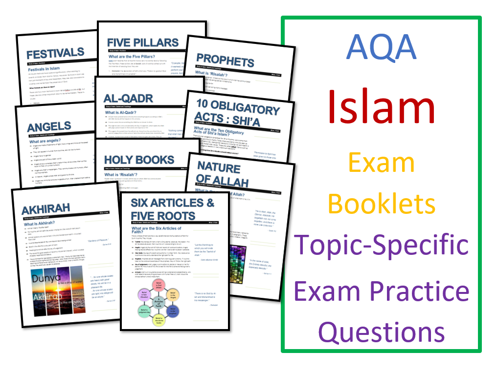 Study of Islam: Exam Booklets Bundle