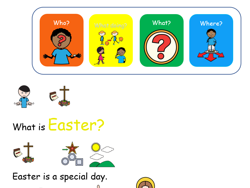 Holy Week colour semantics worksheet