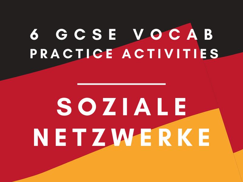 German GCSE Social Networks Vocab Practice