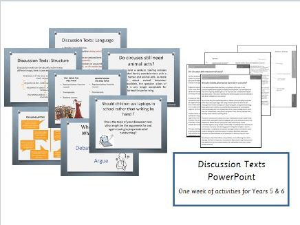 Discussion Texts PowerPoint  - Years 5 & 6