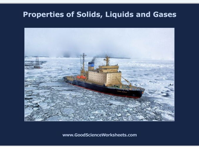 Properties of Solids, Liquids and Gases [Worksheet – Interactive Version]