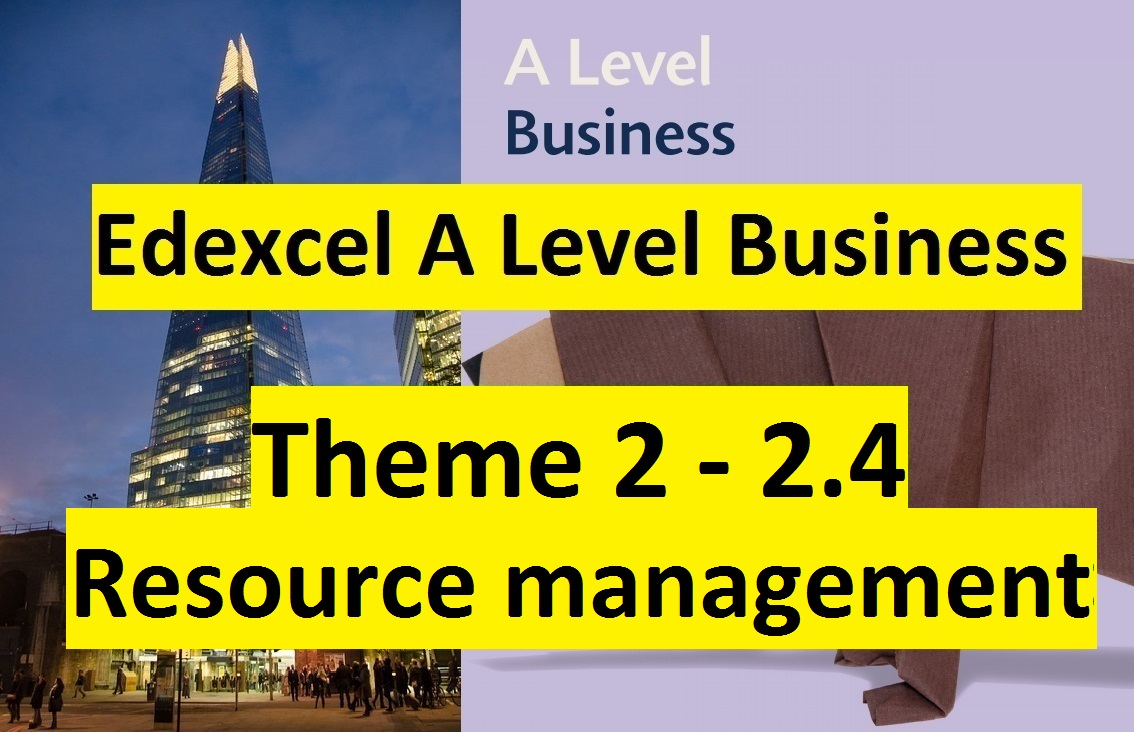 Edexcel A Level Business Theme 2- 2.4 Resource management