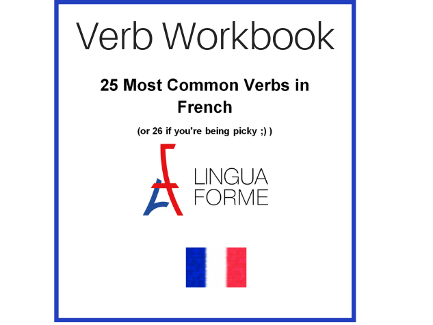 Free Workbook of 25 French verbs