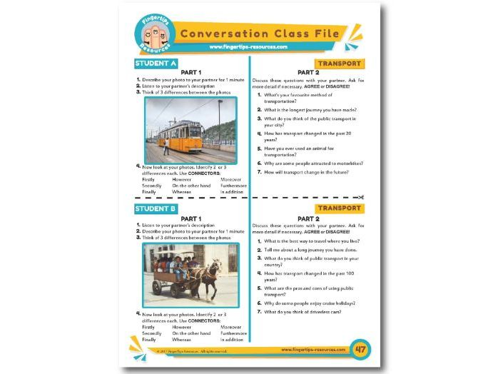 Transport - ESL Conversation Activity