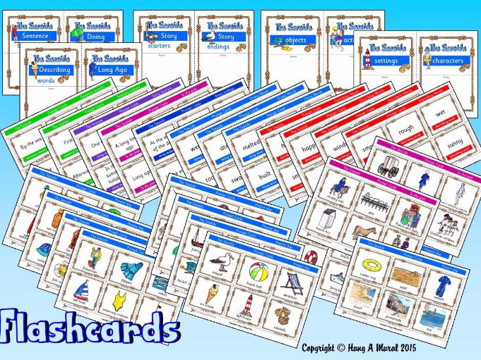 The Seaside Flash Cards & Story prompts