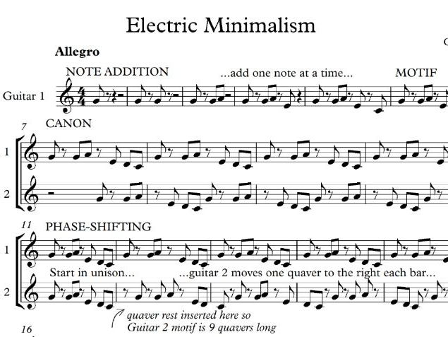 Minimalist Classroom Music ~ Minimalism by chrisgillmusic teaching resources tes