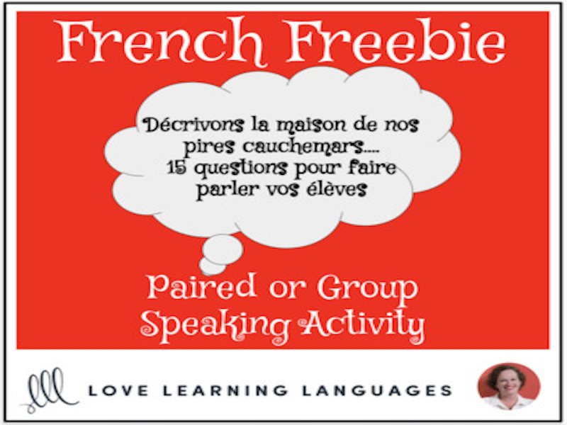 French Freebie: Activity to get your students speaking