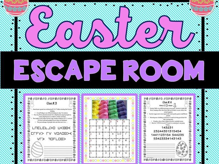 Easter Escape Room - No Prep!