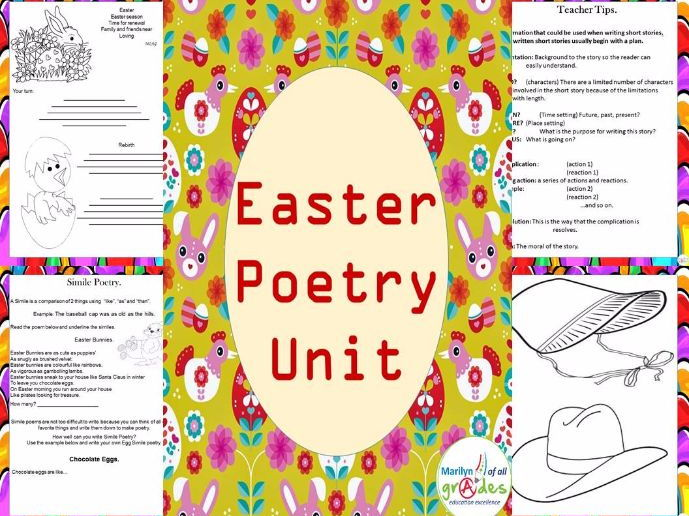 Easter Themed Poetry Unit.