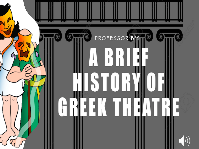 A Brief History of Greek Theatre Power Point/Activity Sheets Bundle