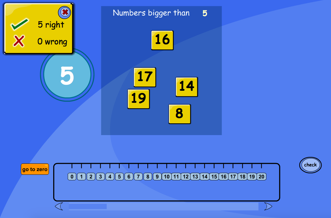 Comparing and Ordering Numbers - Larger Than Interactive Game - EYFS Number