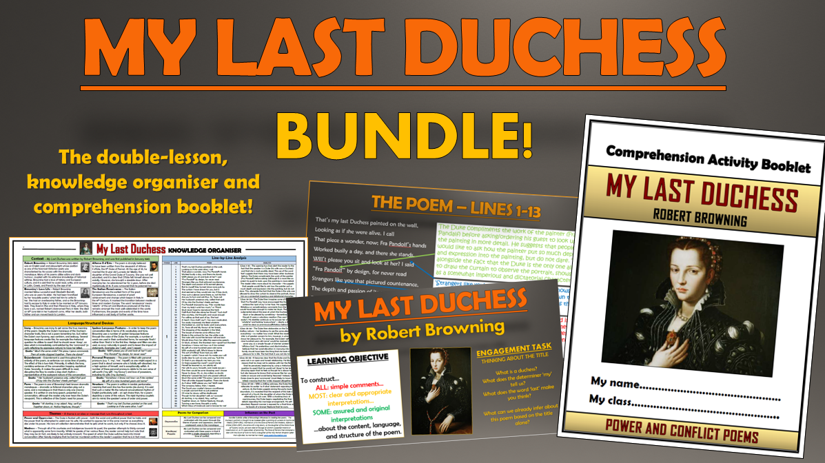 My Last Duchess Bundle!