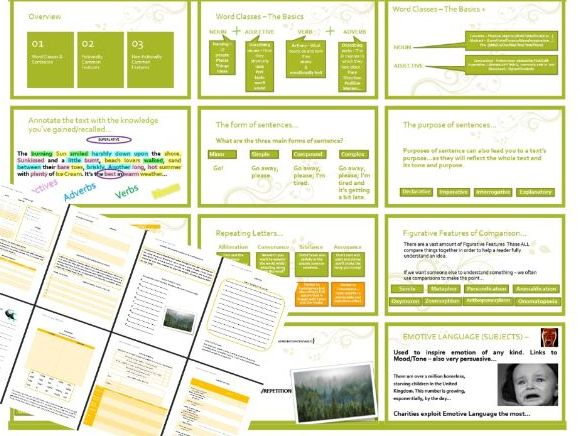 English Language - Features Overview, Annotate & Assess (L1/2)