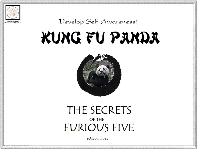 Kung Fu Panda 'Secrets of he Furious Five' Self-Awareness Worksheets