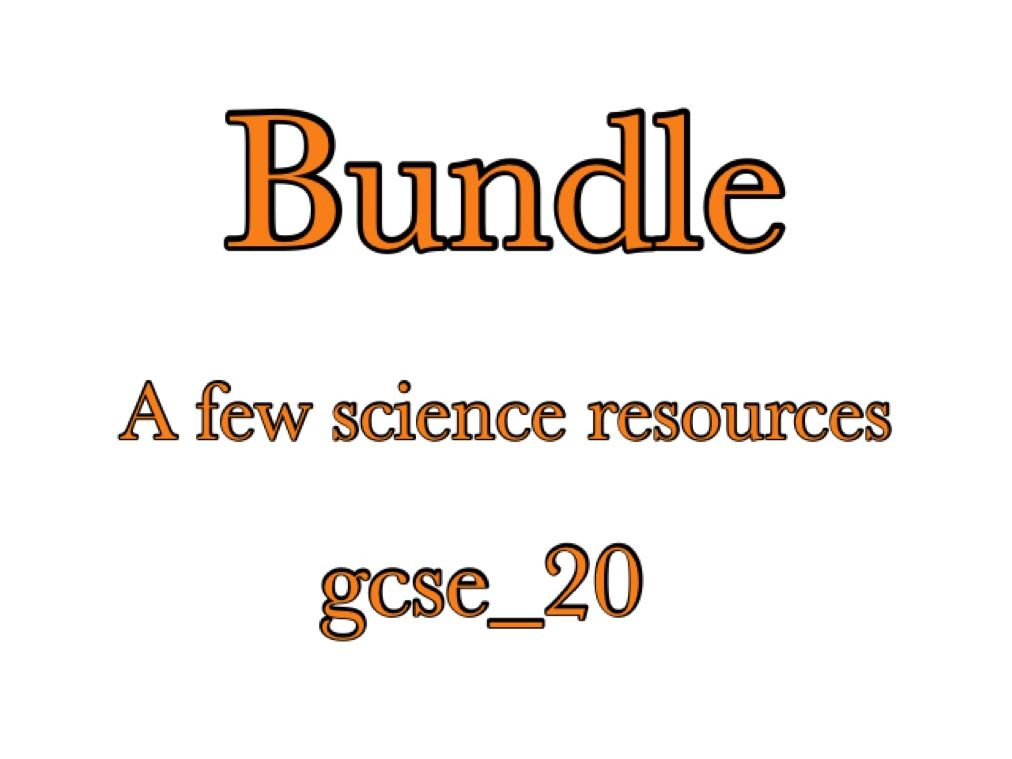 Aqa Gcse Science stuff