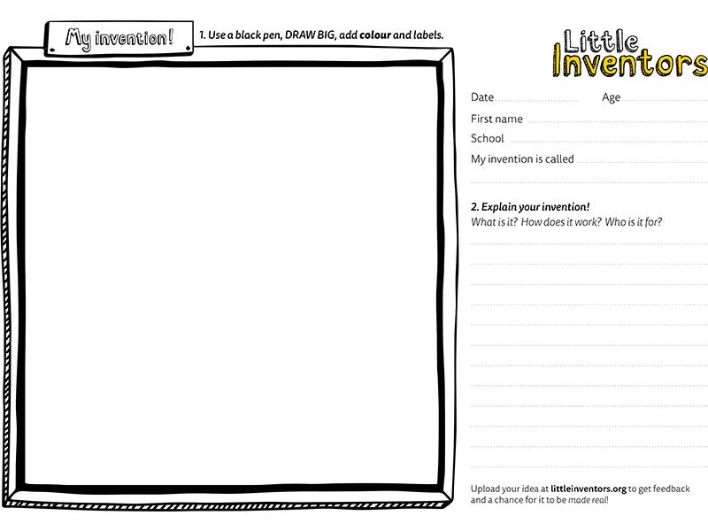 Little Inventors drawing sheet